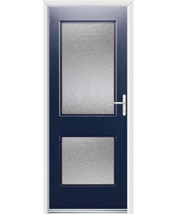 Ultimate Virginia Rockdoor in Sapphire Blue with Gluechip Glazing