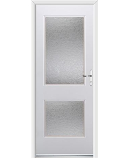Ultimate Virginia Rockdoor in White with Gluechip Glazing