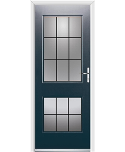 Ultimate Virginia Rockdoor in Anthracite Grey with Square Lead