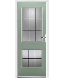 Ultimate Virginia Rockdoor in Chartwell Green with Square Lead