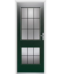 Ultimate Virginia Rockdoor in Emerald Green with Square Lead