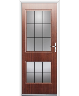 Ultimate Virginia Rockdoor in Mahogany with Square Lead