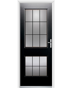 Ultimate Virginia Rockdoor in Onyx Black with Square Lead