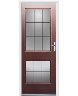 Ultimate Virginia Rockdoor in Rosewood with Square Lead