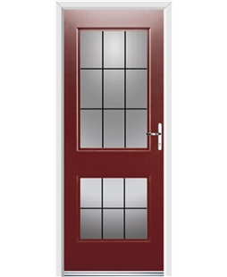 Ultimate Virginia Rockdoor in Ruby Red with Square Lead
