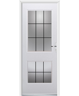 Ultimate Virginia Rockdoor in White with Square Lead