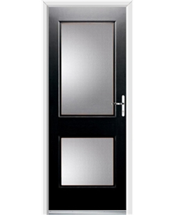 Ultimate Virginia Rockdoor in Onyx Black with Glazing
