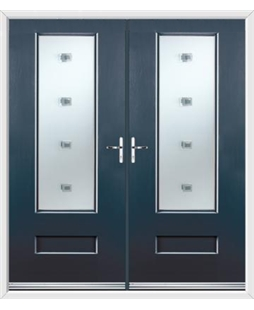 Vogue French Rockdoor in Anthracite Grey with Abyss Glazing
