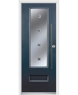 Ultimate Vogue Rockdoor in Anthracite Grey with Abyss Glazing and Bar Handle