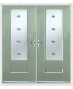 Vogue French Rockdoor in Chartwell Green with Abyss Glazing
