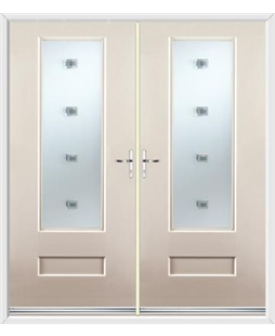 Vogue French Rockdoor in Cream with Abyss Glazing