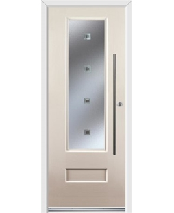 Ultimate Vogue Rockdoor in Cream with Abyss Glazing and Bar Handle