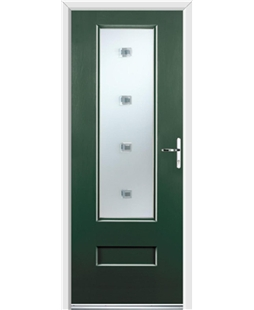 Ultimate Vogue Rockdoor in Emerald Green with Abyss Glazing