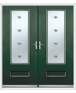 Vogue French Rockdoor in Emerald Green with Abyss Glazing