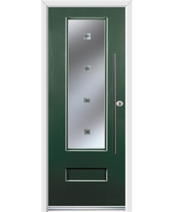 Ultimate Vogue Rockdoor in Emerald Green with Abyss Glazing and Bar Handle