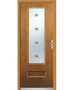 Ultimate Vogue Rockdoor in Irish Oak with Abyss Glazing