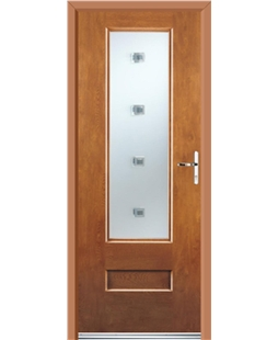 Ultimate Vogue Rockdoor in Light Oak with Abyss Glazing