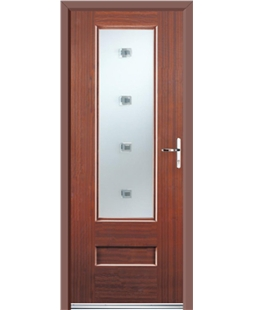 Ultimate Vogue Rockdoor in Mahogany with Abyss Glazing