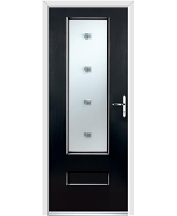 Ultimate Vogue Rockdoor in Onyx with Abyss Glazing
