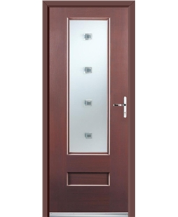Ultimate Vogue Rockdoor in Rosewood with Abyss Glazing