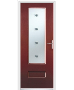 Ultimate Vogue Rockdoor in Ruby Red with Abyss Glazing