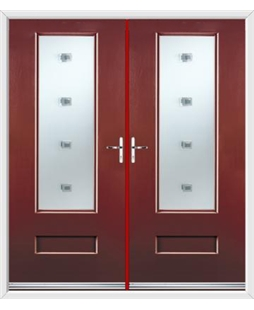 Vogue French Rockdoor in Ruby Red with Abyss Glazing