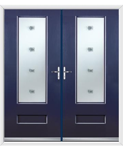 Vogue French Rockdoor in Sapphire Blue with Abyss Glazing