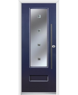 Ultimate Vogue Rockdoor in Sapphire Blue with Abyss Glazing and Bar Handle