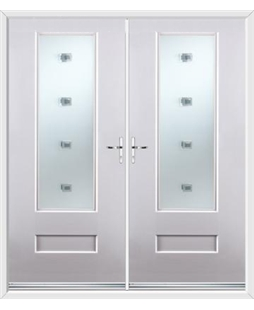 Vogue French Rockdoor in White with Abyss Glazing