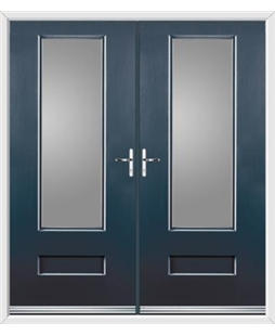 Vogue French Rockdoor in Anthracite Grey with Glazing