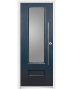 Ultimate Vogue Rockdoor in Anthracite Grey with Glazing and Bar Handle