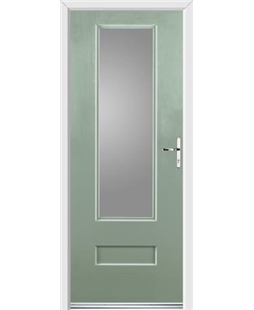 Ultimate Vogue Rockdoor in Chartwell Green with Glazing