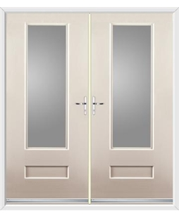 Vogue French Rockdoor in Cream with Glazing