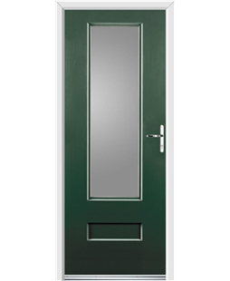 Ultimate Vogue Rockdoor in Emerald Green with Glazing