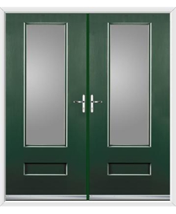 Vogue French Rockdoor in Emerald Green with Glazing