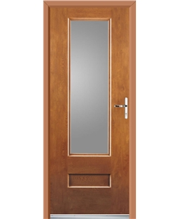 Ultimate Vogue Rockdoor in Light Oak with Glazing