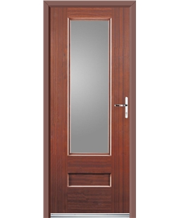 Ultimate Vogue Rockdoor in Mahogany with Glazing