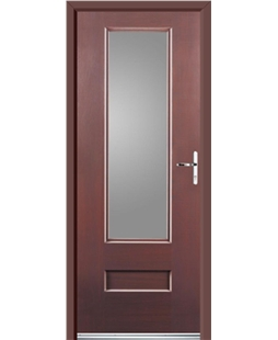 Ultimate Vogue Rockdoor in Rosewood with Glazing