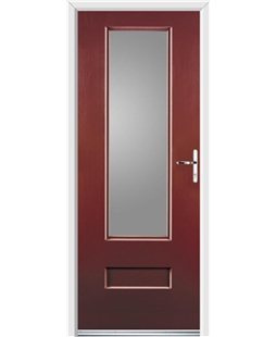 Ultimate Vogue Rockdoor in Ruby Red with Glazing