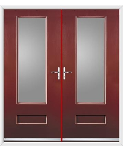 Vogue French Rockdoor in Ruby Red with Glazing
