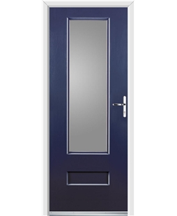 Ultimate Vogue Rockdoor in Sapphire Blue with Glazing