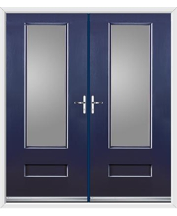 Vogue French Rockdoor in Sapphire Blue with Glazing