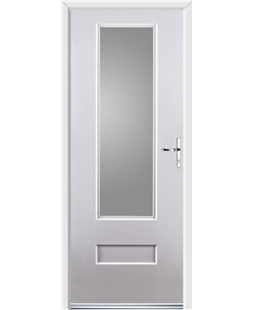 Ultimate Vogue Rockdoor in White with Glazing
