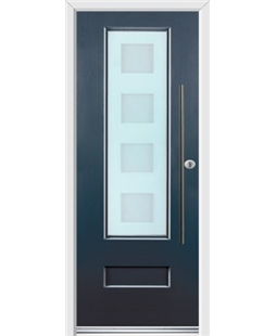 Ultimate Vogue Rockdoor in Anthracite Grey with Cube Glazing and Bar Handle