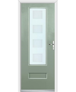 Ultimate Vogue Rockdoor in Chartwell Green with Cube Glazing