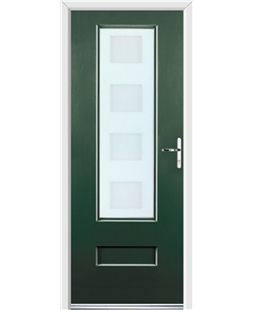 Ultimate Vogue Rockdoor in Emerald Green with Cube Glazing