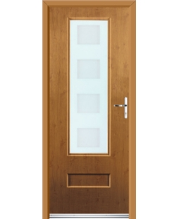 Ultimate Vogue Rockdoor in Irish Oak with Cube Glazing