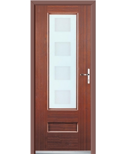 Ultimate Vogue Rockdoor in Mahogany with Cube Glazing