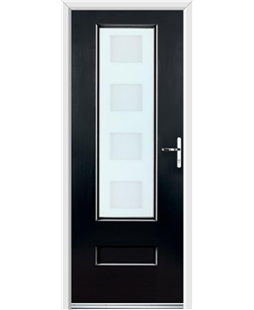 Ultimate Vogue Rockdoor in Onyx with Cube Glazing