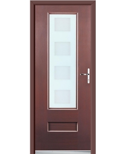 Ultimate Vogue Rockdoor in Rosewood with Cube Glazing